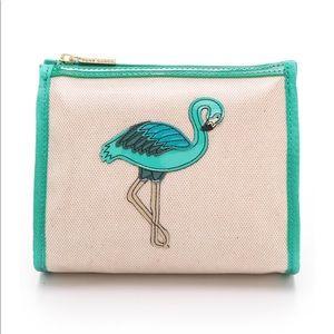 Tory Burch Flamingo Print Cosmetic bag